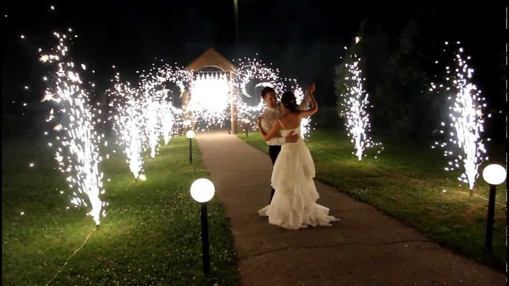 Фейерверк фонтан