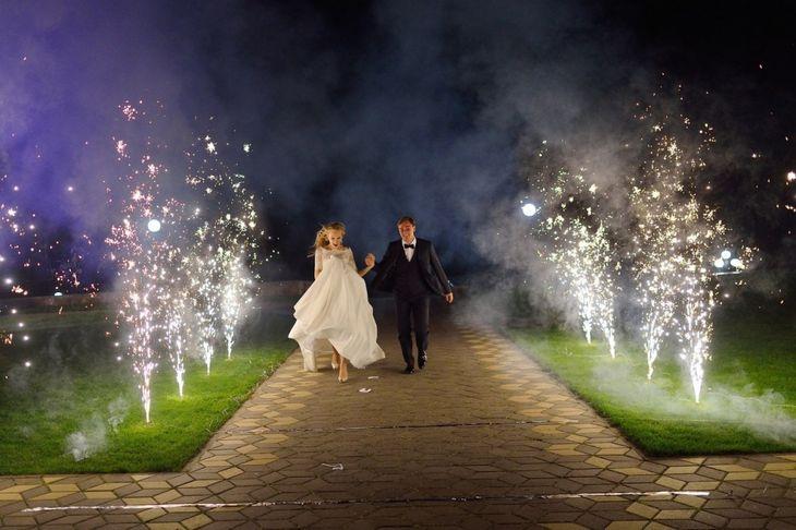 Фейерверк-фонтан на свадьбу
