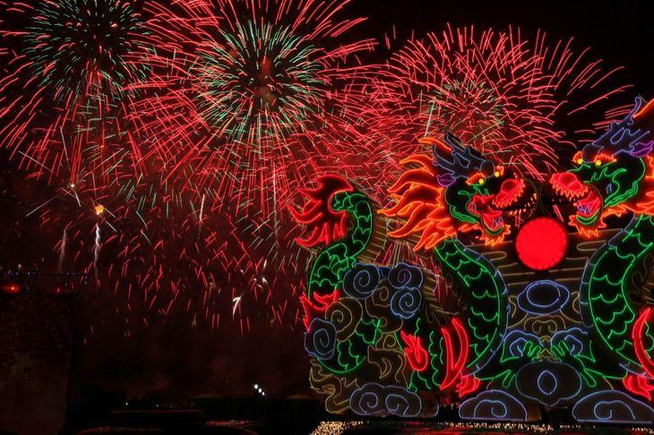 Фейерверки в Китае
