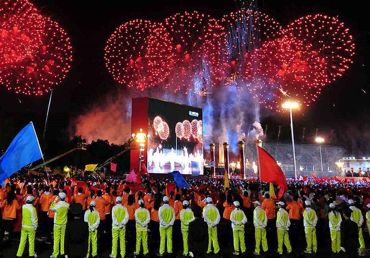 Фестиваль фейерверков в Китае