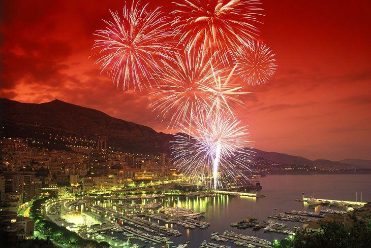 Фестиваль фейерверков в Монако в 2019 году