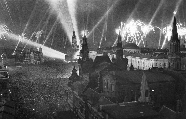 Москва. Салют Победы май 1945 года